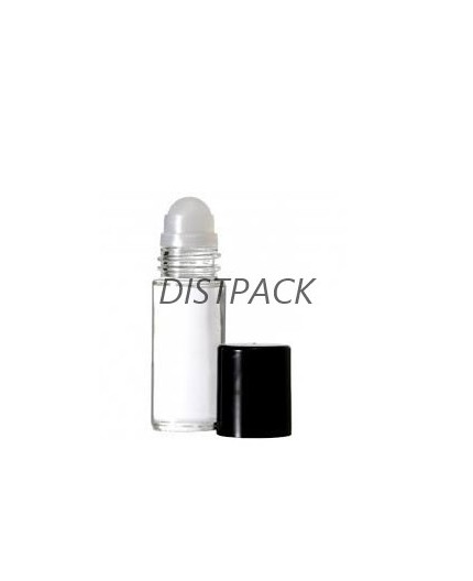BOtella roll on 5ml , vidrio transparente.