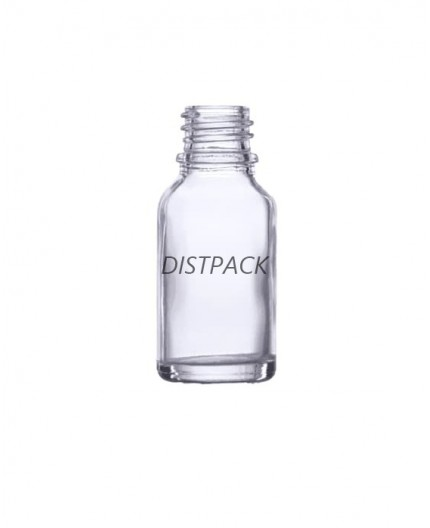 Frasco de vidrio Dropper  transparente, 30ml.