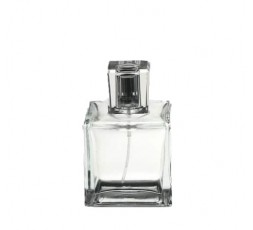glass bottle of perfum