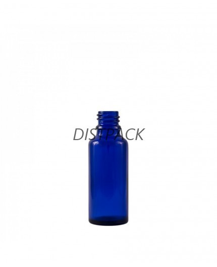 Frasco Dropper 15ml azul DIN18.