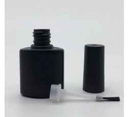 Nails polish and brush, 10ml color black.