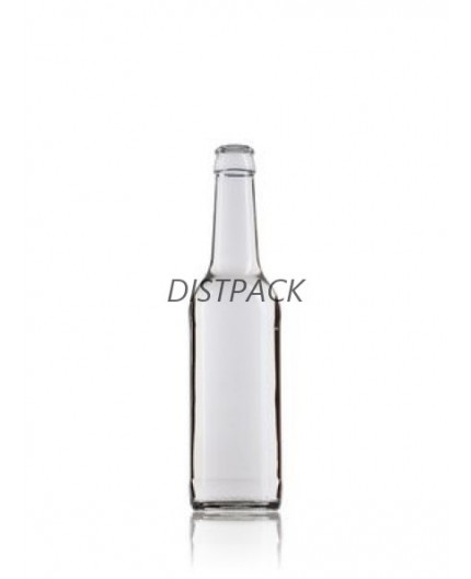 Botella 330ml transparente boca corona.
